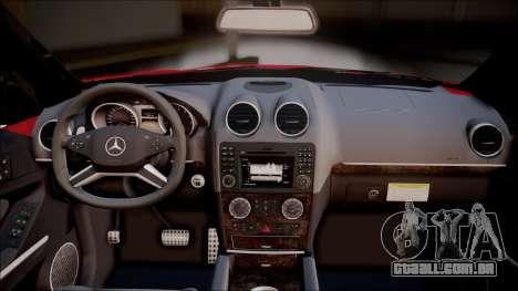 Mercedes-Benz ML 63 AMG 2014 para GTA San Andreas vista traseira