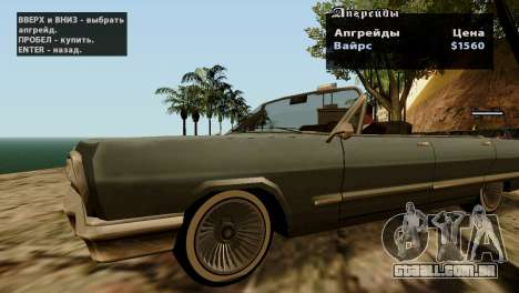 Rodas de GTA 5 v2 para GTA San Andreas oitavo tela