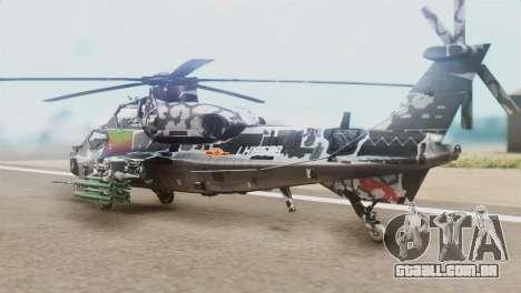Changhe WZ-10 para GTA San Andreas esquerda vista