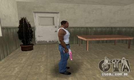 Pink Deagle para GTA San Andreas terceira tela