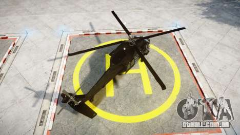 Sikorsky MH-60L Black Hawk [EPM] para GTA 4 traseira esquerda vista