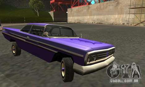 Luni Voodoo Remastered para GTA San Andreas vista interior