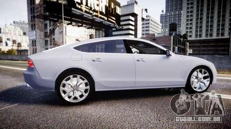 Audi A7 para GTA 4 esquerda vista