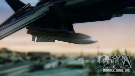 F-14D Azusa Miura The Idolmaster para GTA San Andreas vista direita