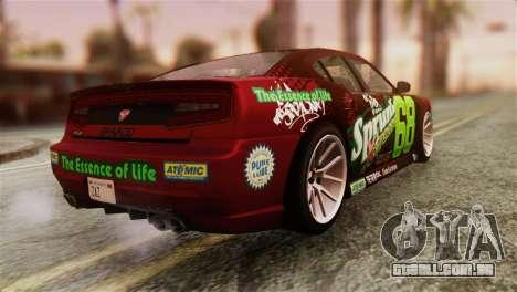 GTA 5 Bravado Buffalo Sprunk HQLM para GTA San Andreas esquerda vista