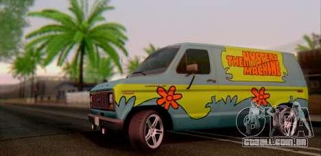 Ford E-150 Scooby Doo para GTA San Andreas traseira esquerda vista
