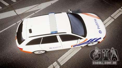 Audi S4 Avant Belgian Police [ELS] orange para GTA 4 vista direita