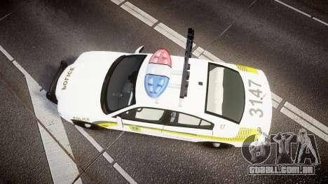 Dodge Charger Surete Du Quebec [ELS] para GTA 4 vista direita