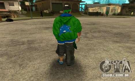 Groove St. Nigga Skin Second para GTA San Andreas terceira tela