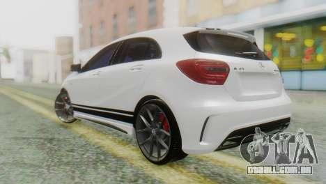 Mercedes-Benz A45 AMG para GTA San Andreas esquerda vista