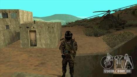 BF3 Soldier para GTA San Andreas quinto tela