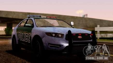 GTA 5 Vapid Police Interceptor v2 SA Style para GTA San Andreas vista traseira