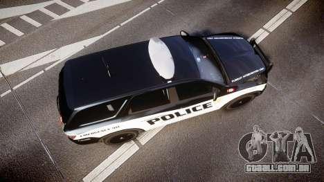 Dodge Durango Alderney Police para GTA 4 vista direita
