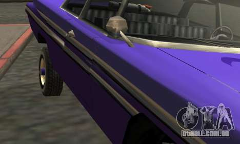 Luni Voodoo Remastered para GTA San Andreas vista superior