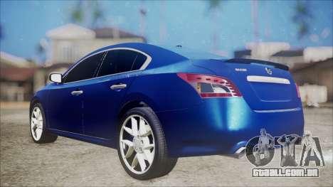 Nissan Maxima 2009 para GTA San Andreas traseira esquerda vista