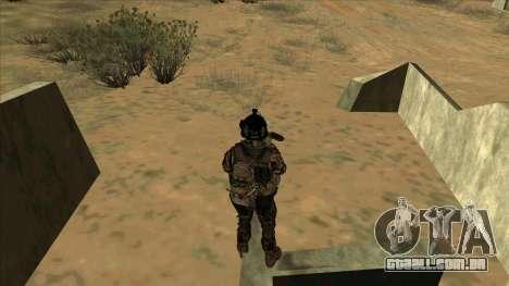 BF3 Soldier para GTA San Andreas sexta tela
