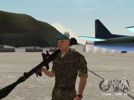 O airborne soldado da Ucrânia para GTA San Andreas sexta tela