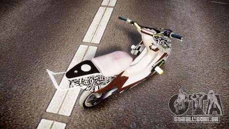 Yamaha Aerox Stunt para GTA 4 traseira esquerda vista