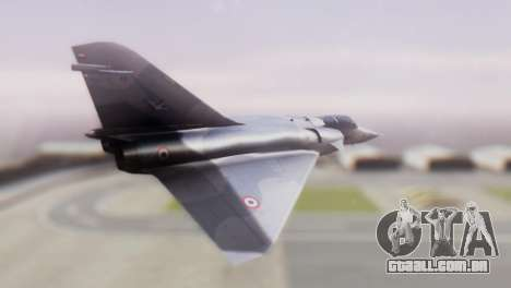 Dassault Mirage 4000 French Air Force para GTA San Andreas esquerda vista