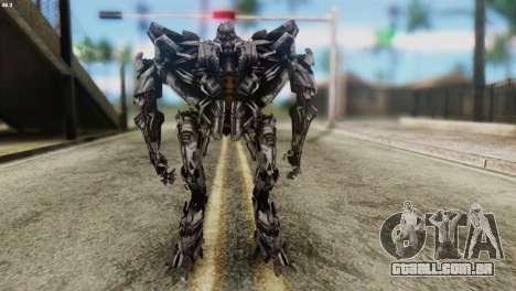Starscream Skin from Transformers v2 para GTA San Andreas segunda tela