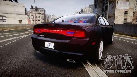 Dodge Charger SWAT Tactical Unit [ELS] rbl para GTA 4 traseira esquerda vista