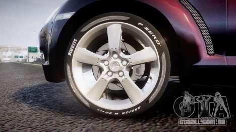Mazda RX-8 2006 v3.2 Pirelli tires para GTA 4 vista de volta