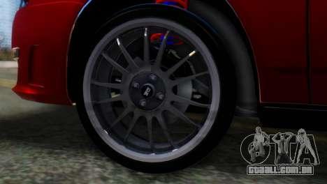 VAZ 2170 AMG para GTA San Andreas traseira esquerda vista