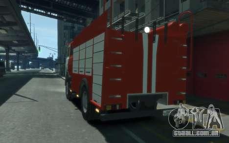 MAZ 533702 de EMERCOM da Rússia para GTA 4 traseira esquerda vista