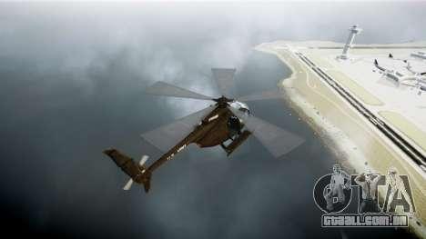 MH-6 Little Bird para GTA 4 traseira esquerda vista