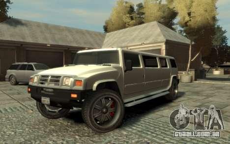 Mammoth Patriot Limousine para GTA 4 vista lateral