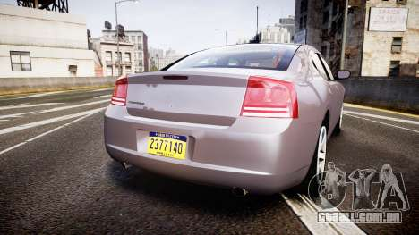 Dodge Charger Police Unmarked [ELS] para GTA 4 traseira esquerda vista