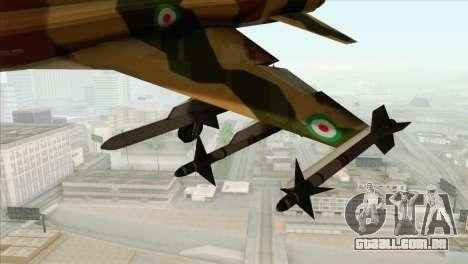 Northrop F-5ES IRIAF para GTA San Andreas vista direita