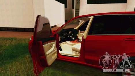 BMW X5 F15 2014 para GTA San Andreas vista direita