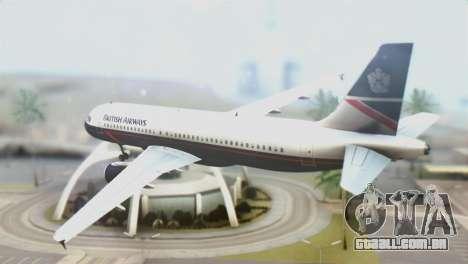 Airbus A320-200 British Airways para GTA San Andreas esquerda vista