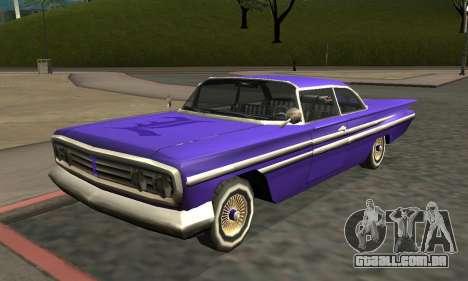 Luni Voodoo Remastered para GTA San Andreas esquerda vista