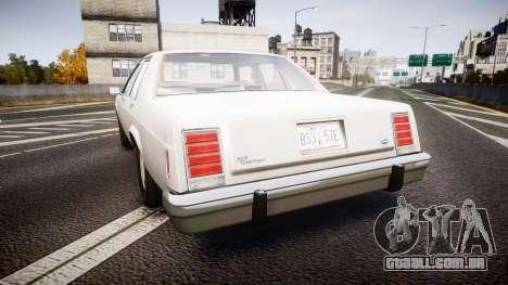 Ford LTD Crown Victoria 1987 Detective [ELS] v2 para GTA 4 traseira esquerda vista