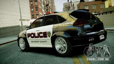 Subaru Impreza WRX STI Police para GTA 4 esquerda vista