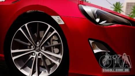 Toyota GT86 (ZN6) 2012 PJ para GTA San Andreas traseira esquerda vista