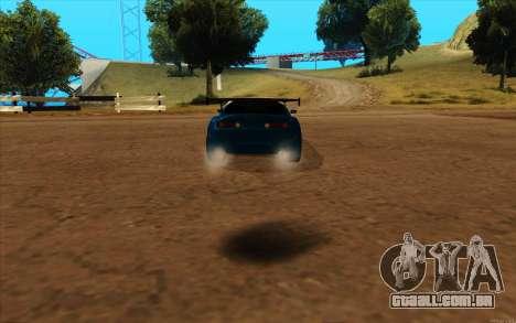 Toyota Supra Blue Robot para GTA San Andreas esquerda vista