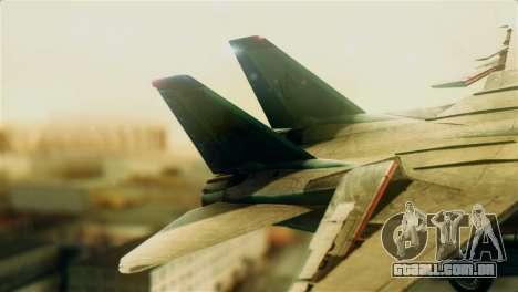 F-14D VF-213 Black Lions para GTA San Andreas traseira esquerda vista