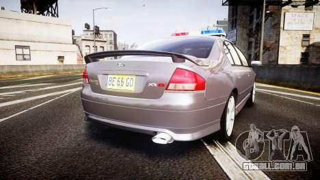 Ford Falcon XR8 Unmarked Police [ELS] para GTA 4 traseira esquerda vista