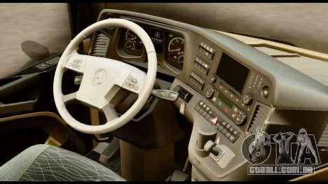 Mercedes-Benz Actros MP4 4x2 Standart Interior para GTA San Andreas vista direita