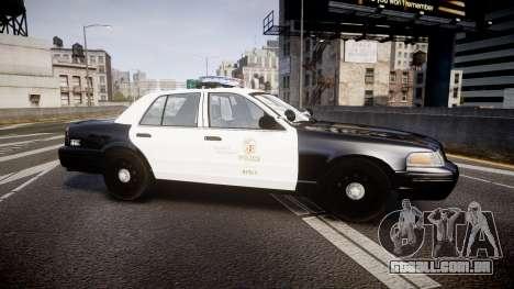 Ford Crown Victoria 2011 LAPD [ELS] rims2 para GTA 4 esquerda vista