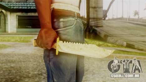 Red Dead Redemption Knife Sergio para GTA San Andreas terceira tela