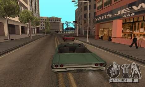 Aumentar a amplitude de vetorização para GTA San Andreas por diante tela