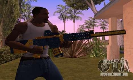 M4 BlueYellow para GTA San Andreas