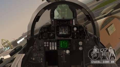 F-14B Bombcat VF-11 Red Rippers para GTA San Andreas vista traseira