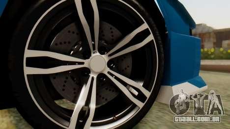 Infernus BMW Revolution para GTA San Andreas traseira esquerda vista