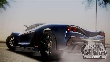 GTA 5 Grotti Turismo R SA Style para GTA San Andreas vista traseira