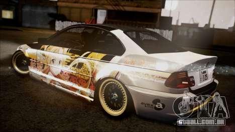 BMW 325t E46 LCI SAO Itasha para GTA San Andreas traseira esquerda vista